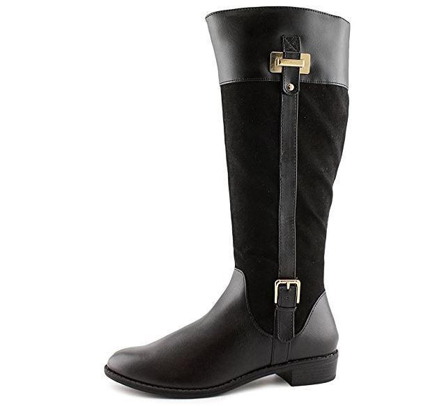 Karen Karen Karen Scott Womens DELIEE Round Toe Knee High Riding Boots, Black, Size 6.0 5b0ddd