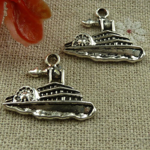 Free Ship 160 Pcs Tibetan Silver Steamboat Charms 24x20mm #1709