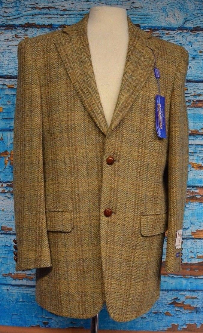 NWT Pendleton Harris Tweed 40R Hand Woven Scotland 100% Wool Professor Blazer