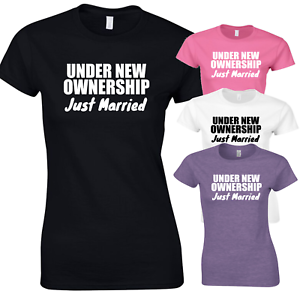 ad69bc1f Image is loading Under-New-Ownership-Just-Married-T-Shirt-Funny-