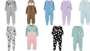 Carter-039-s-Baby-Girls-Footed-Fleece-Pajamas-Coverall-Footies-Choose-Size