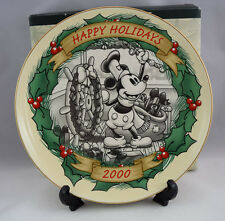 Disney Christmas Through the Years Steamboat Willie 1928 - Christmas 2000 Plate