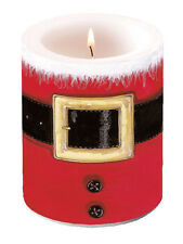 Ambiente 12cm Pillar Candle, Santa's Belt Father Christmas Xmas Decor Gift New