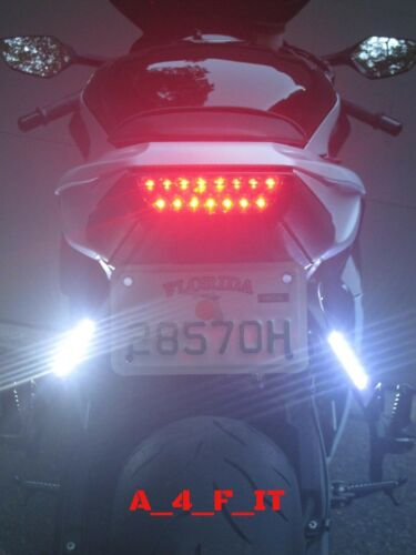 White Lamp Motorcycle License Plate LED Decorative Lights DC12V FREE SHIPPING