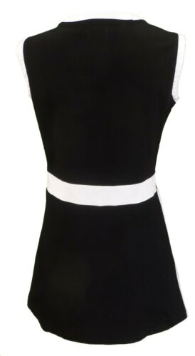 Ladies 60s Retro Mod Vintage Black /& White Quadrant Dress