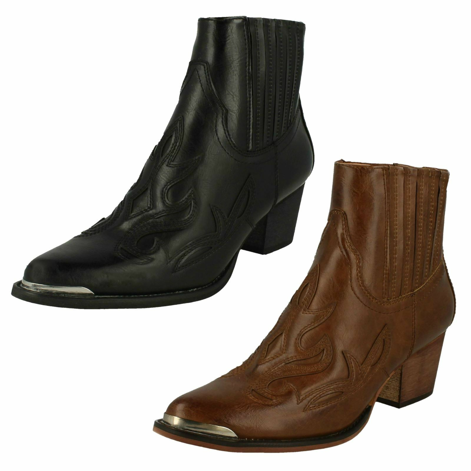 Ladies Down To Earth Slip On 'Ankle Boots'