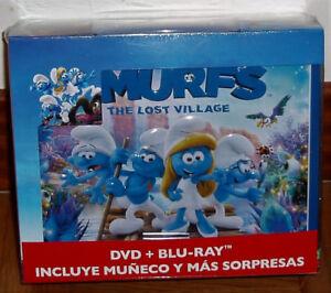 The-Smurfs-the-Hidden-Village-Blu-Ray-DVD-Snowman-Lunchbox-New-No-Open-R2