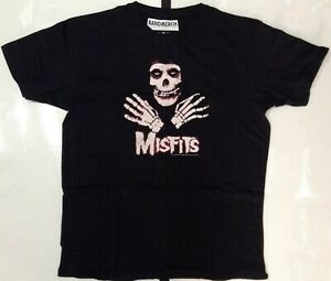 Misfits-Men-039-s-Hands-T-shirt-Black-XL