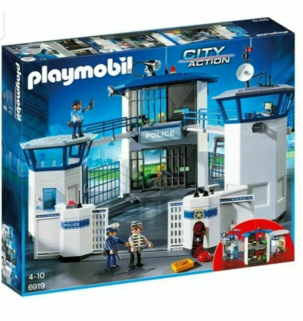 Playmobil 6919 City Action Police Headquarters with Prison - New & Sealed