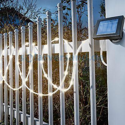 Solar Lichtschlauch warmweiß Lichterkette Solarleuchte Solarlampe, esotec 102159