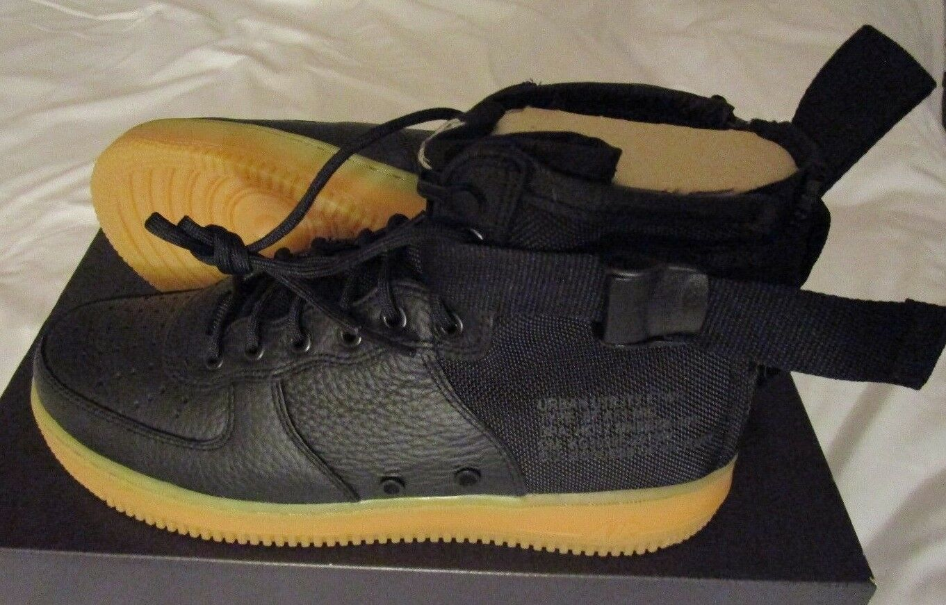 Nike sf af1 met campo speciale air force one nuovi chewingum nero taglia 10 nuovi one 917753 003 4b49ae
