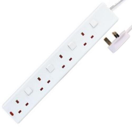 4 Gang Secteur Extension Lead Individuellement Switched Câble 10 mètres 10 m