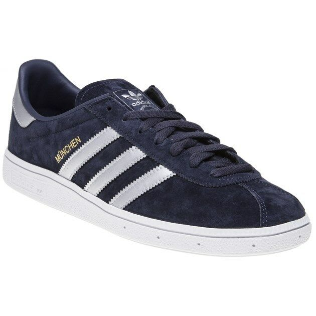 New Hombre adidas Azul Munchen Up Suede Trainers Retro Lace Up Munchen c1c43c