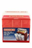 Bandage Box Container, Red With White Center