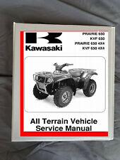1999 2002 Kawasaki Prairie 300 4x4 Atv Service Manual Kvf300 A1 2 3 4 B2 3 4 Ebay