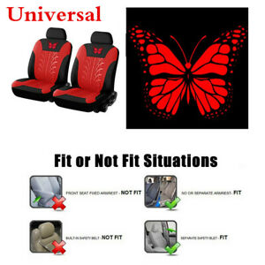 Car Seat Cover Butterfly-Pattern Embroidery Full Set For Interior Accessories