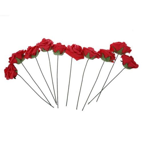 S6 PE Kuenstliche Schaum Rose-Blumenstrauss Hochzeitsstraeusse fuer Hochzeits de