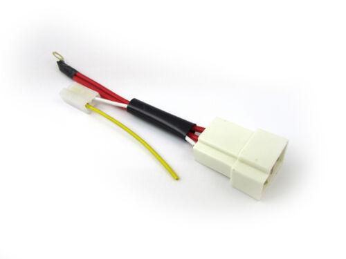 RAC903 Powerlite Adaptor Plug for 2 wire Alternator to Lucas type 3 pin plug