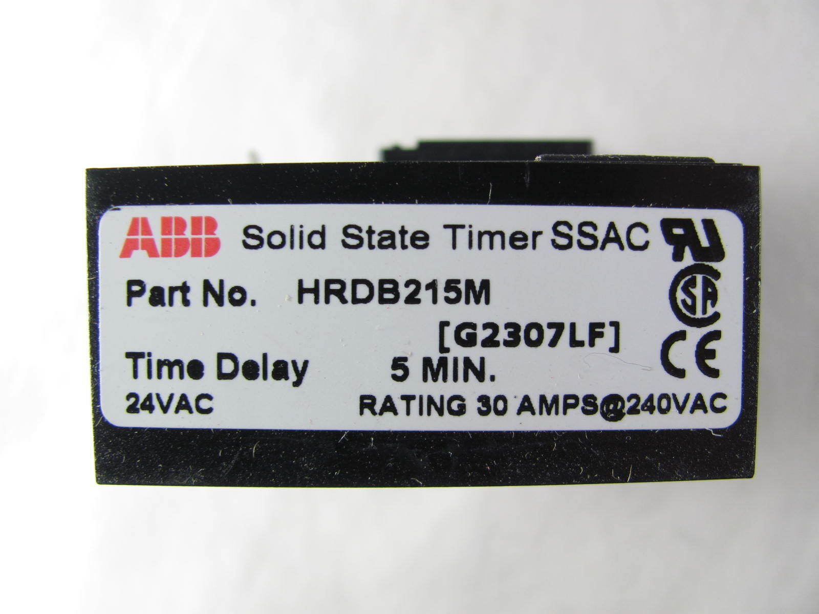 ABB, SSAC, Solid State Timer, HRDB215M, Delay on Break, New in Box, on