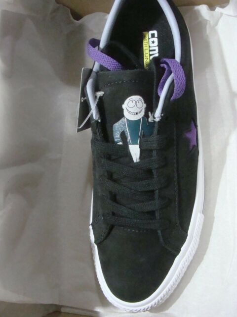MENS CONVERSE 158660C ONE STAR PRO OX BLACK ALLIUM PURPLE WHITE SIZE 7~ 809bedff8