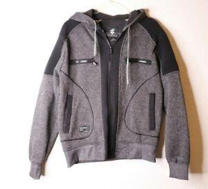 Rocawear-Men-039-s-Gray-Black-Full-Zip-Hoodie-Sweater-Sweatshirt-Size-Small-EUC