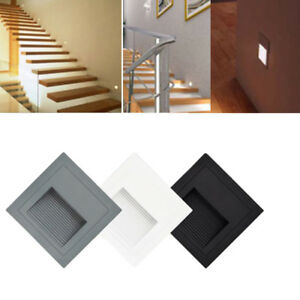 5X LED Indoor Wall Plinth Recessed Light Stair Step Hall Corner Lamp Home Decor