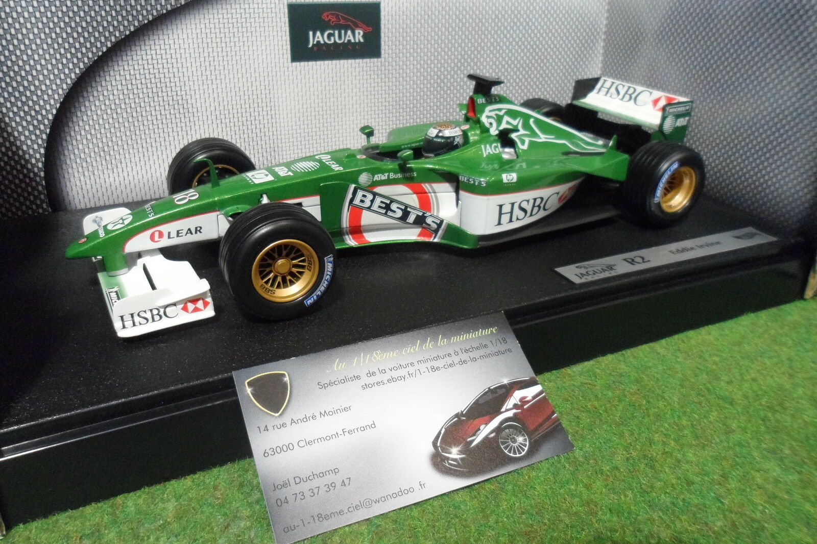 venta al por mayor barato F1 JAGUAR RACING R2    18 Eddie IRVINE de 2001 au 1 18 HOT WHEELS 50173 formule 1  el mas reciente
