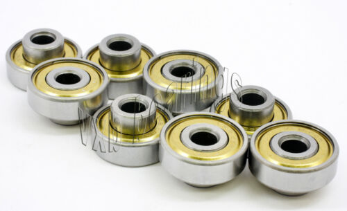 """Lot of 8 Extended Wheel Ball Bearing 1//4/""""x 22mm x 7mm"""