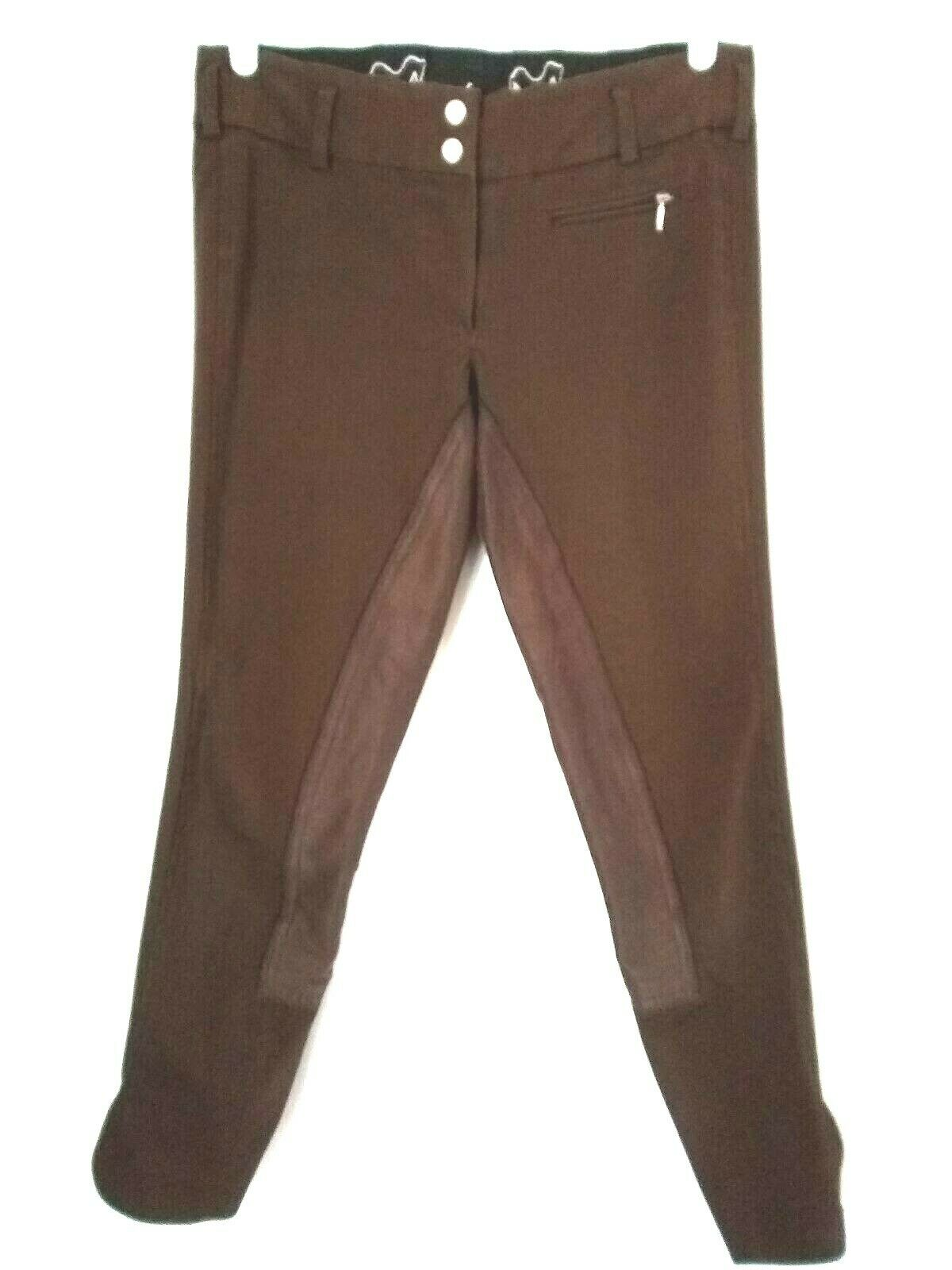 Goode Rider Womens Brown Full Seat Equestrian Riding  Breeches Size 28R  team promotions