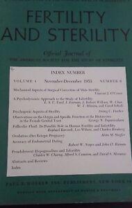 Revista Fertility Y Asrm Oficial Journal VOL4 NOV-DEC1953 P. B. Hoeber ABE