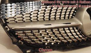 CHROM-Aufkleber-Folien-Sticker-fuer-Mercedes-W176-Urban-Diamantgrill-Kuehlergrill