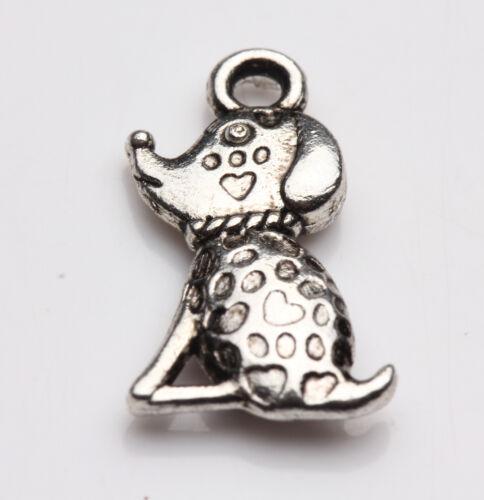 Vintage Tibet Argent Spacer Collier Pendentif Charme Jewelry Making Bracelet À faire soi-même