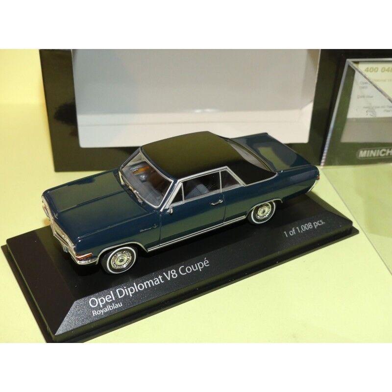 OPEL DIPLOMAT V8 COUPE 1965 Bleu Dark bleu MINICHAMPS 1 43