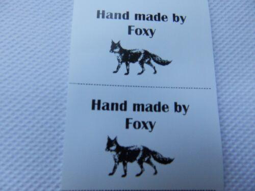Hecho a mano por Foxy con Fox Etiquetas Coser En 40 X 25mm elige el color y la cantidad