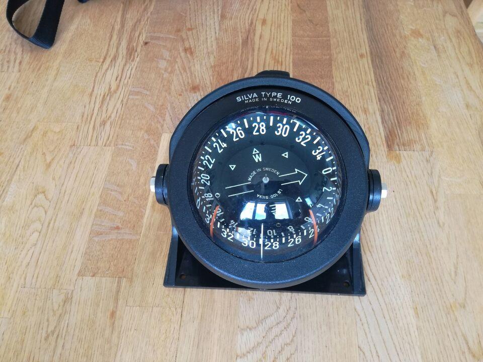 Silva Type 100 Kompas.  Fejler absolut intet. F...