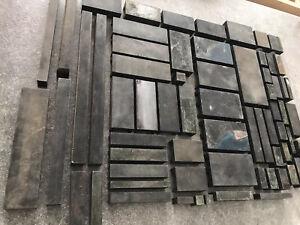 Konvolut-STAHL-Unterlegstege-Bleisatz-Buchdruck-Klischee-Letterpress-Tiegel