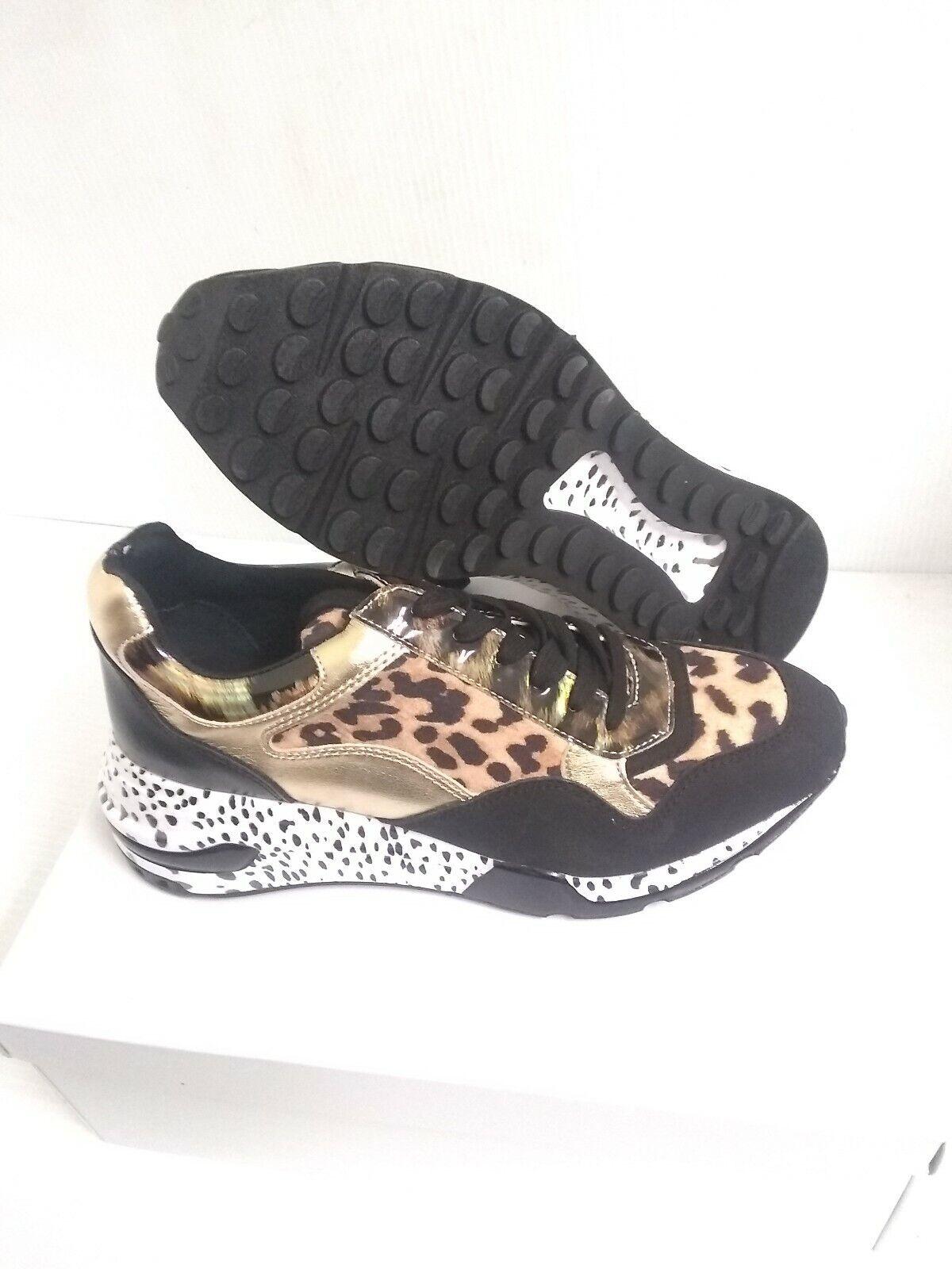 Femmes Steve Madden Chaussures Course Bena Léopard Taille 6 US