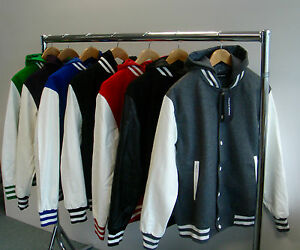 ecopelle Bianco baseball verde Bianco Letterman giacca nero membro privato Varsity cappuccio Bianco con blu Bianco reale rosso Mens viola Bianco Bianco Nero da grigio Nero 1wZ0pfxq