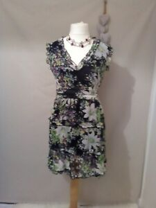 New-York-Laundry-Black-Floral-Special-Occasion-Wedding-guest-Dress-size-12-c