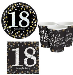 Image Is Loading 18th Birthday Milestone Party Decorations 34pc Tableware Set