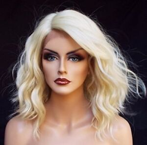 Layered-Full-Bob-Wavy-Wigs-Heat-Resistant-Lace-Front-Wig-Blonde-16-inches