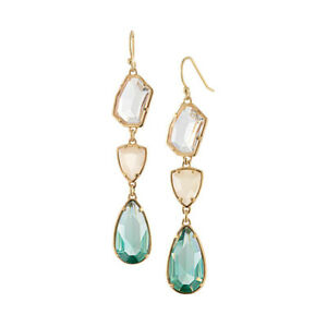 Rhinestone-Diamond-Bling-Crystal-Earrings-1-Pair-Green-Color-Drop-Jewelry