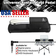 Damper Sustain Foot Pedal Switch Electric Keyboard Piano For Yamaha Casio Roland