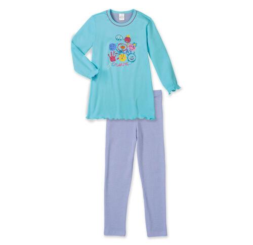 104 116 128 140 Schlafanzug NEU SCHIESSER Mädchen Pyjama lang SMILEYS Gr