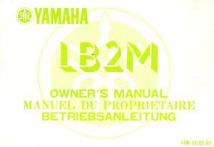 Pratique Manuel Du Proprietaire Yamaha Lb2m Chappy 1983 Riche En Splendeur PoéTique Et Picturale