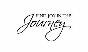 Find Joy In The Journey Quote Wall Decal Removable Decor Diy