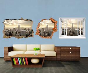 3d-ADESIVO MURO NEW YORK SKYLINE View adesivi muro episodico m0221  </span>