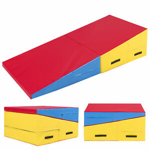 cheese folding today overstock gymnastics mat x wedge shipping tumbling sports incline ramp toys skill shape mats product foam slope free large
