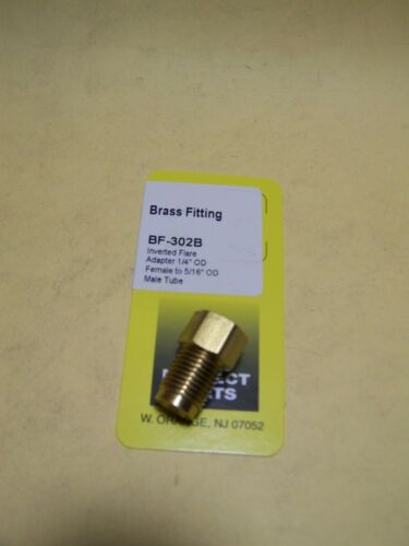 """Adapter with 1//4/"""" female OD to 5//16/"""" male OD tube Brass Fitting"""