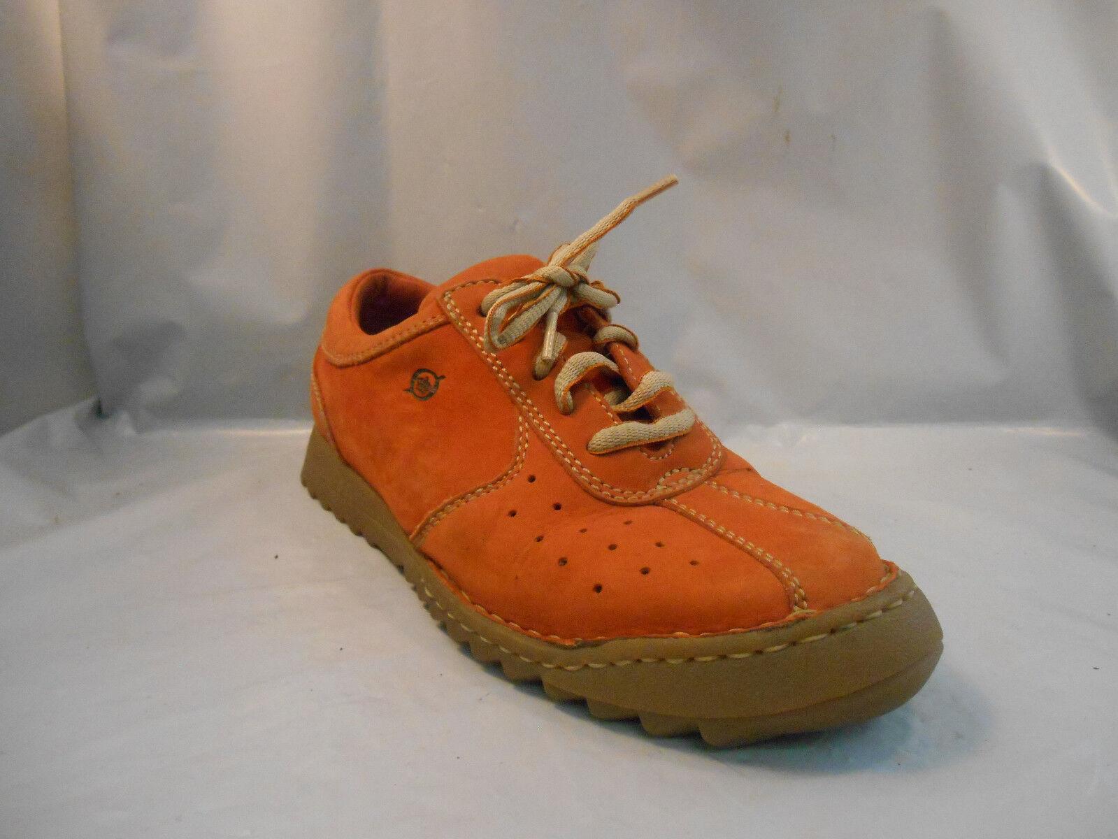 Born orange Leather Oxfords Fashion Sneakers Women's Sz 6 M   36.5 Eu